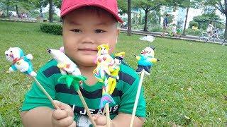 Đồ chơi trẻ em bé pin xem nặn tò he ❤ PinPin TV ❤ Baby toys