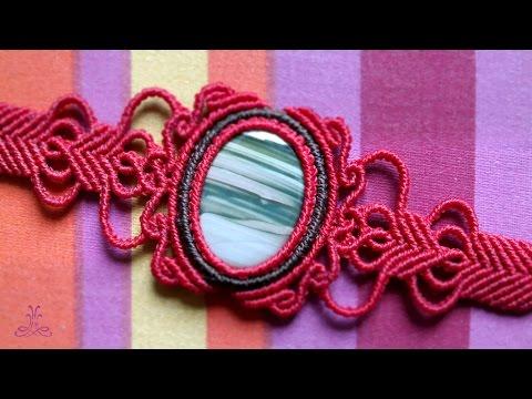 Vintage Macrame Bracelet With Gemstone Youtube