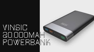 vinsic 20000mah powerbank dismantle and short review
