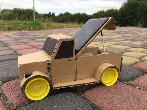 How to Make a Hybrid off-road Car on Solar Energy from Cardboard