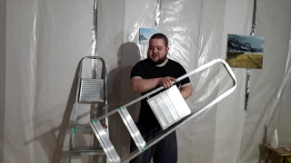 видео Стремянка алюминиевая Алюмет на 5 ступеней