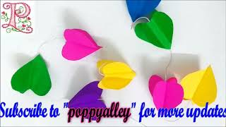 Wall decor ideas    Home decor making at home    paper craft ideas    poppyalley