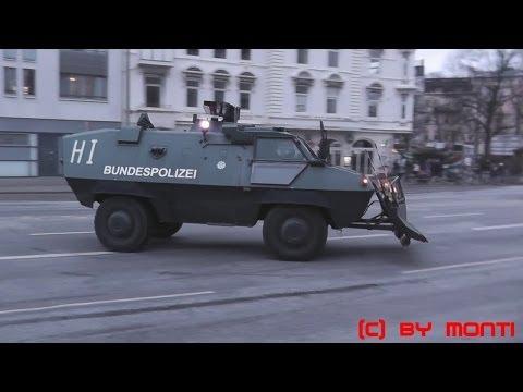 [Straßenschlacht/Krawalle] Großeinsatz für die Polizei in Hamburg bei einer Demo Teil 1 (HD)