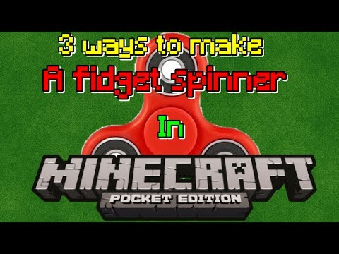 how to make a fidget spinner in minecraft