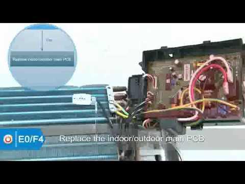 Mini Split Troubleshooting - error codes E0 & F4 (Sophia Cooper&Hunter)