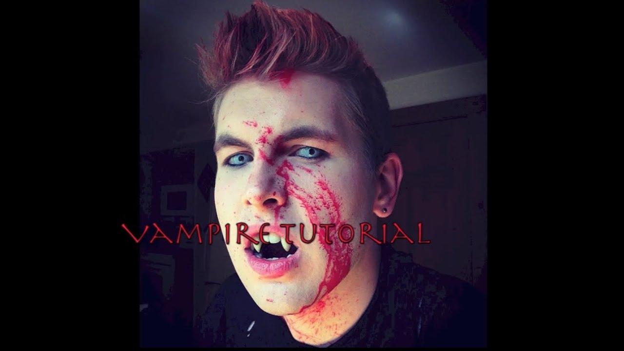 halloween makeup vampire man - photo #2