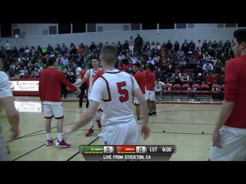St. Mary's (Stockton) vs Lincoln High Boys Basketball LIVE 2/14/18