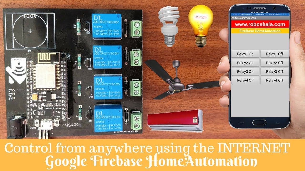 IOT Home automation using Google Firebase