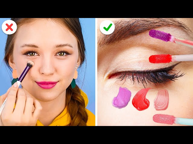 LIFE-SAVING MAKEUP DIYS EVERY GIRL SHOULD KNOW || Beauty Hacks And Tricks by 123 Go! Gold