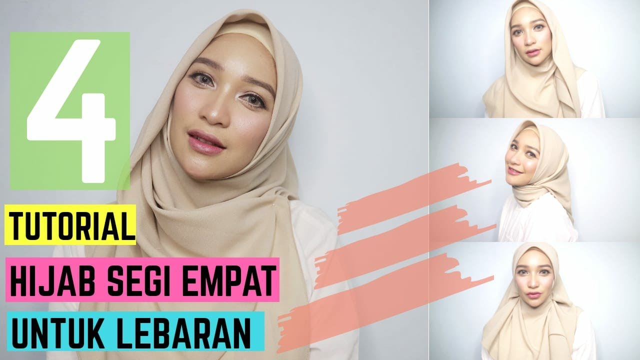 17 Gambar Tutorial Hijab Segiempat Lebaran Pics
