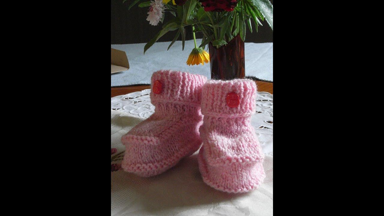 Baby Stiefeletten Strickenbaby Bootsknitting Bootiestutorial