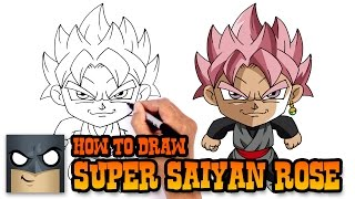 How to Draw Goku Super Saiyan Rose | Dragon Ball Z