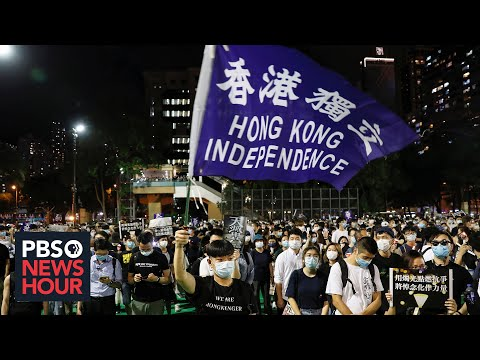 At banned Tiananmen vigil, Hong Kong protesters rally for their freedoms