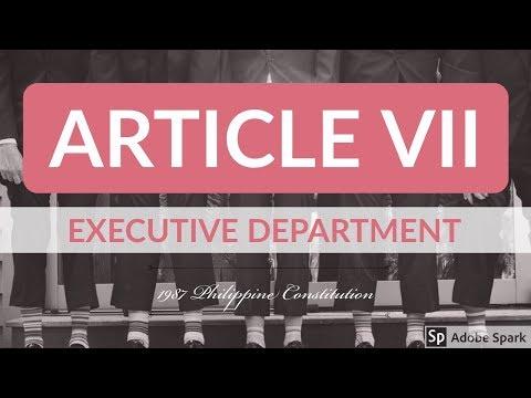 Article VII - 1987 Philippine Constitution - Audio Codal