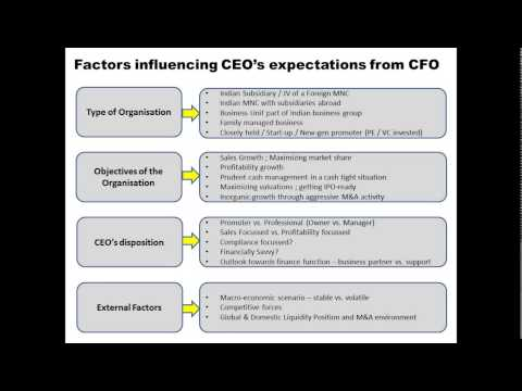 What should a CEO expect from a good quality CFO?