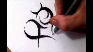 Zodiac Signs Inside a Heart Sketch - Tribal Pisces and Taurus Combined