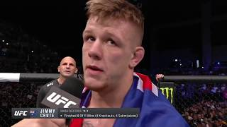 UFC Auckland: Jimmy Crute Octagon Interview