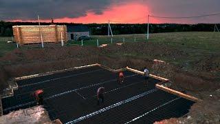 видео как строить фундамент для дома своими