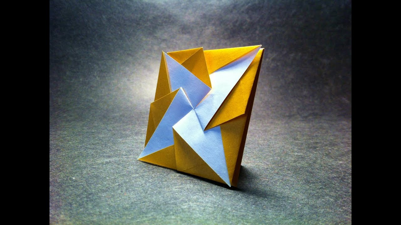 origami collapsible box coin purse youtube