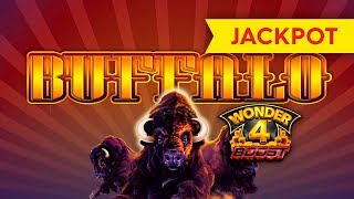 JACKPOT HANDPAY! Wonder 4 Boost Buffalo Slot - $16 MAX BET!