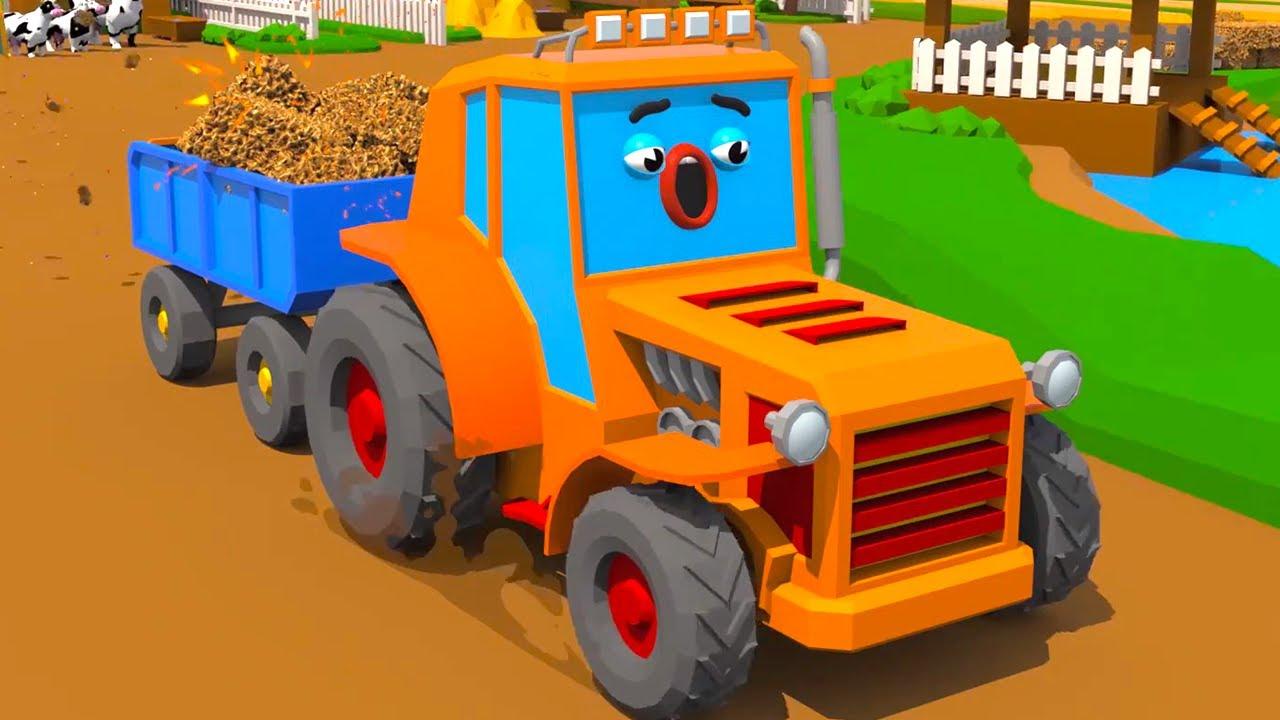 El Tractor austado con su ruidosa carga - Cars Town - Dibujos animados para niños