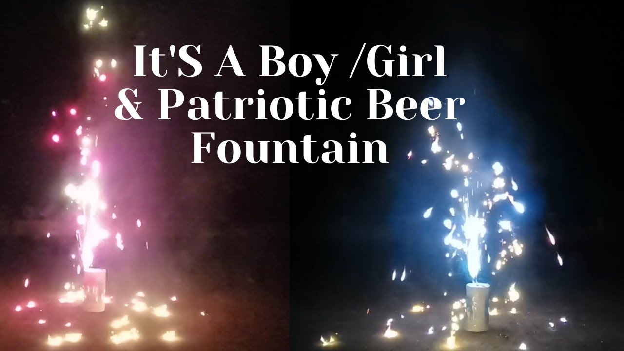 It'S A Boy /Girl Fountain Patriotic Beer Fountain BW1401&BW1408 Boomwow fireworks
