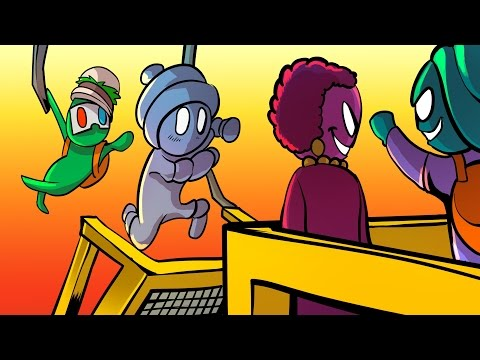 Thumbnail: THE LEAP OF FAITH!! - Gang Beasts Funny Moments Gameplay