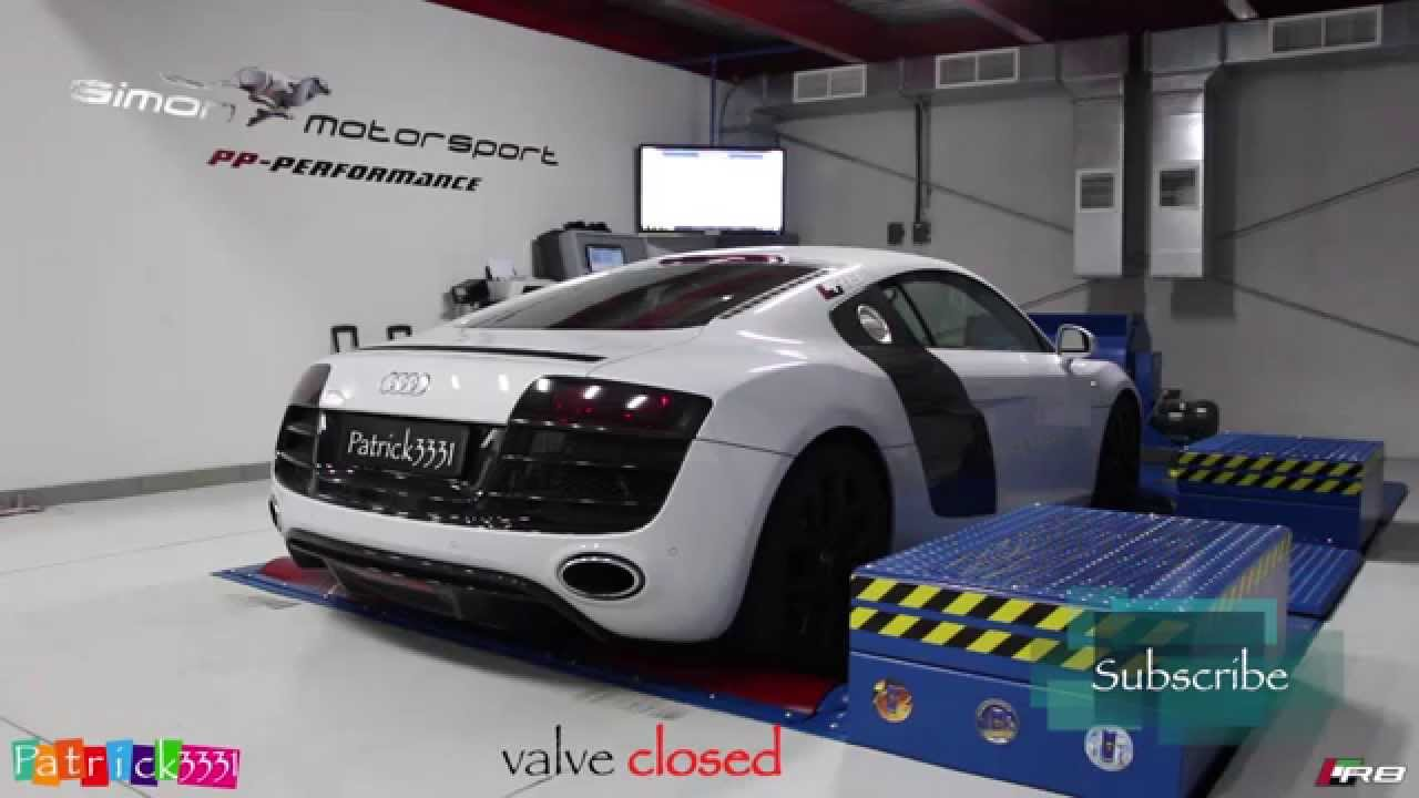 Dyno Run - Audi R8 V10 with IPE Innotech valvetronic exhaust - very loud @SimonMotorSportDXB ...
