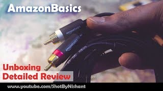 AmazonBasics 3.5mm to 2-Male RCA Adapter Cable | Detailed Review & Unboxing
