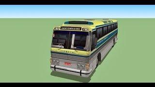 SketChup tutorial PART - FINAL  como modelar um onibus CMA-SCANIA K-113 CL 360