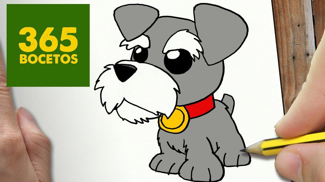 Como Dibujar Perro Schnauzer Kawaii Paso A Paso Dibujos Kawaii