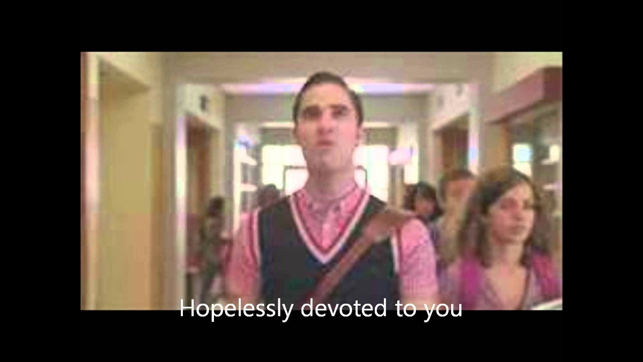Hopelessly devoted to you glee with lyrics chords chordify hexwebz Image collections