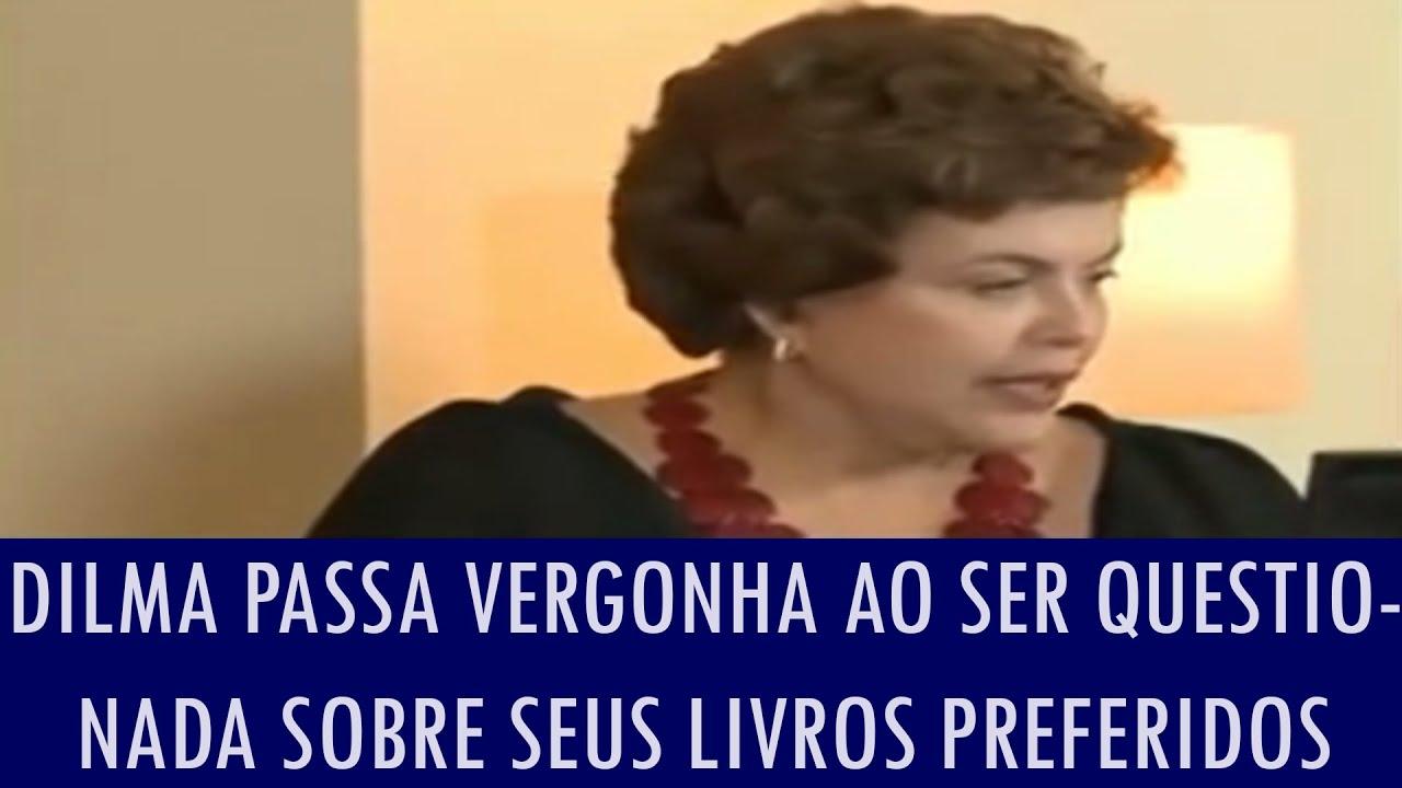 Dilma passa vergonha ao ser questionada sobre seus livros preferidos; assista ao vídeo