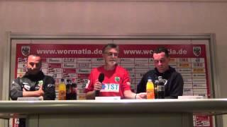 Pressekonferenz Wormatia Worms - SC Pfullendorf