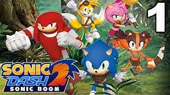 Sonic Dash 2: Sonic Boom - Gameplay Walkthrough Part 1 - Level 1-2 (iOS, Android)