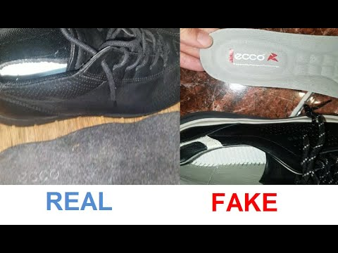 Real Vs Fake Ecco Shoes. How To Spot Counterfeit Ecco Footwear