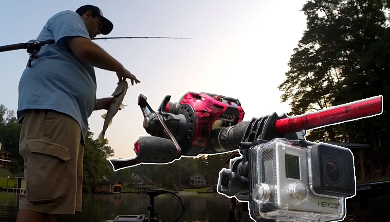 Gopro sportsman mount fish catch fishing rod mount youtube for Best gopro for fishing