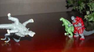 Godzilla stop motion movie