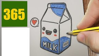 HOW TO DRAW A MILK CUTE, Easy step by step drawing lessons for kids