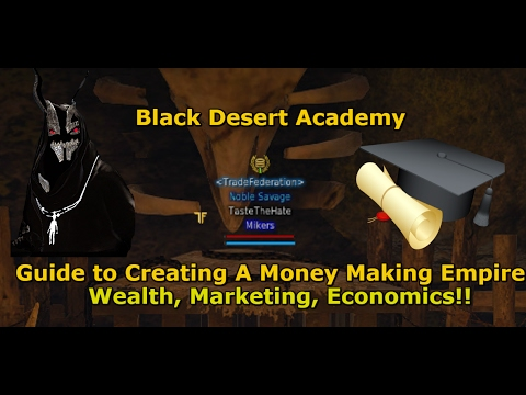 Black Desert Online| BDA Wealth, Marketing, Economics