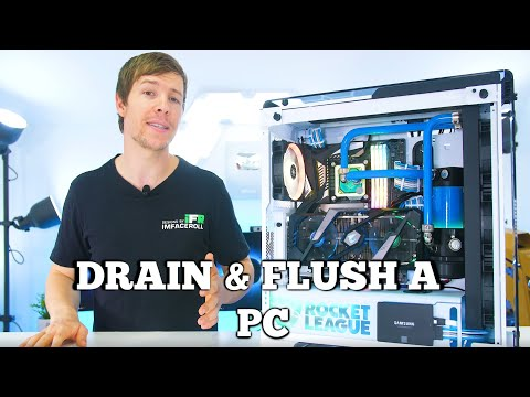 Beginners Water Cooling Guide - How To Drain and Flush a Water Cooled PC Build.