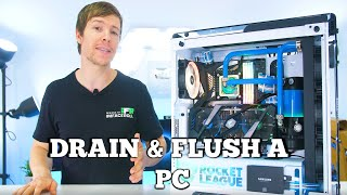 Beginners Water Cooling Guide - How To Drain and Flush a Water Cooled PC Build. screenshot 5