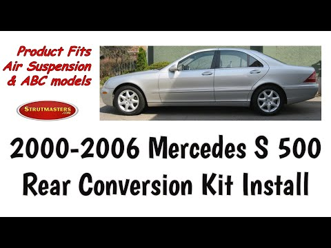 How To Change The Rear Suspension On A Mercedes S 500 By Strutmasters