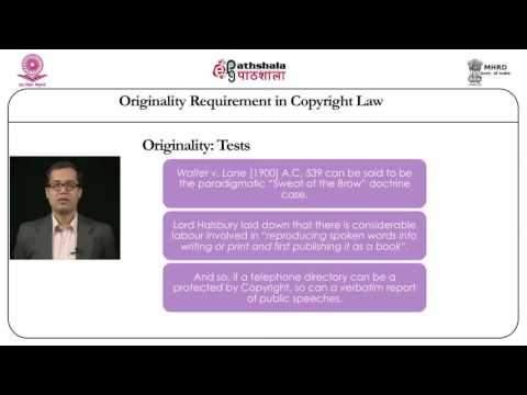 Originality requirement in copyright law