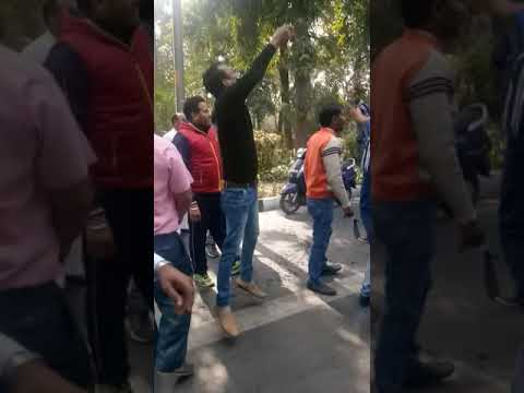 Dharna ola uber and delhi govt 16/2/2018(4)