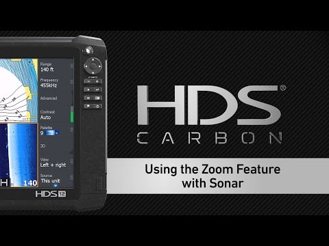 Using the Zoom Feature on the Lowrance HDS Sonar Page