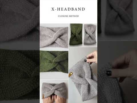 Knit Headband Closure Method
