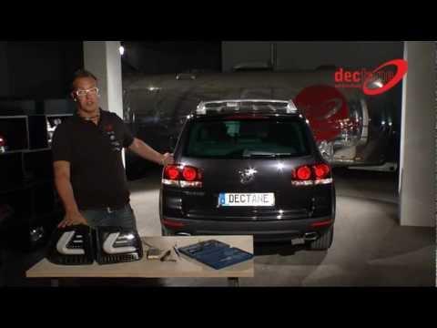 carDNA LED Rückleuchten VW Touareg LIGHTBAR black/red/smoke - RV42LBRS