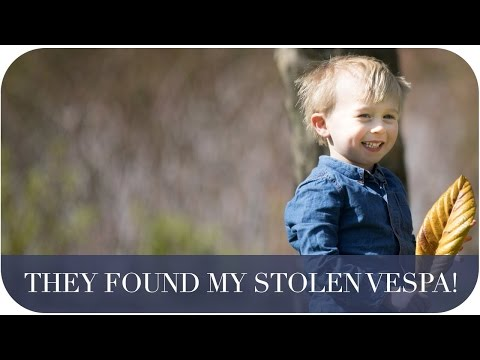 THEY FOUND MY STOLEN VESPA | THE MICHALAKS | #AD