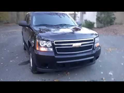 UNMARKED BLACK POLICE TAHOE FOR SALE IN NJ 4X4 all cloth seats & full carpet North Jersey Emerg Veh